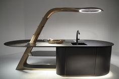 AUTOMOTIVE AND NAUTICAL TECHNOLOGY IN THE KITCHEN Snaidero's Aria: detail of kitchen island