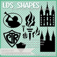 My Computer is My Canvas: {NEW!} LDS, YW & CTR Shapes