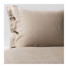 LINBLOMMA Påslakan 2 örngott IKEA Naturfibrerna i linne skapar små variationer i ytan som ger dina sängkläder en speciell struktur och lyster.