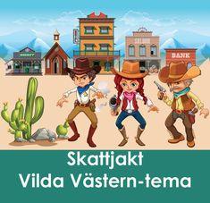 Sheriff Star i Gunville har utlyst en belöning på  $10.000 till de som kan fånga den ökände Wild Billy Bull som ligger  bakom rån och boskapsstölder i hela Vilda Västern - död eller levande!  Låt barnen ge sig ut på ett riktigt Vilda Västern äventyr! Kul och  spännande skattjakt för barnkalas med Vilda Västern-tema! #lekar #skattjakt #kalas #barnkalas Sheriff, Cowboys, Fictional Characters, Inspiration, Biblical Inspiration, Fantasy Characters, Inspirational, Serif