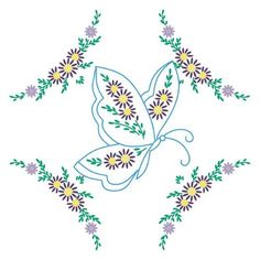 Fairway 92398 Quilt Blocks, Interlocking Butterfly Design, White, 6 Blocks Per Set Embroidery Transfers, Embroidery Patterns, Hand Embroidery, Cross Stitch Patterns, Butterfly Quilt, Butterfly Design, Buy Stamps, Embroidered Quilts, Joann Fabrics