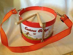 RARE Curious George Tin Drum Toy Cartoon Book Monkey Drumsticks Adjustable Strap   eBay