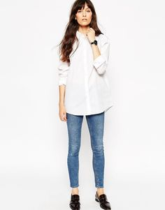 Image 1 ofASOS Smart Boyfriend White Shirt