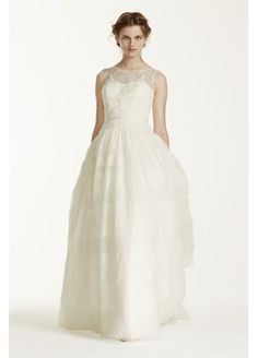 Melissa Sweet Sleeveless Wedding Dress with Tulle MS251073