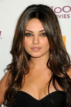 Mila Kunis hair makeup tutorial. Love the hair too