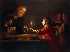 Gerrit van Honthorst - Childhood of Christ [c.1620]