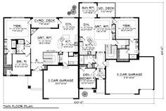 Traditional Style Multi-Family Plan 73454 with 6 Bed, 6 Bath, 5 Car Garage Duplex Floor Plans, House Floor Plans, 5 Car Garage, House Proud, Duplex House Design, Apartment Plans, House Blueprints, Townhouse, Home And Family