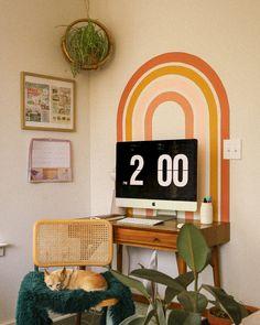 Rainbow Mural Desk Backdrop