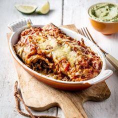 Guacamole, Tortilla Wraps, Burritos, Lasagna, Love Food, Macaroni And Cheese, Nom Nom, Foodies, Dinner