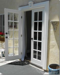 French doors...About 3 sets of these off the living room to the back deck ;)