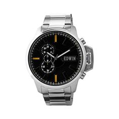 Edwin ENERGY Men's Chronograph Watch, Stainless Steel Cas...