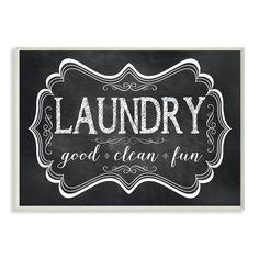 Stupell 'Laundry Good Clean Fun' Chalkboard-look Wall Plaque Art