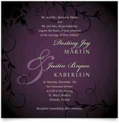 Flat Square Wedding Invitations - Entwined Circles