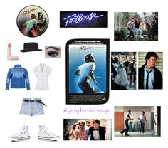 """Footloose 💃💃💃🎤"" by handlethisstyle ❤ liked on Polyvore featuring Converse, Too Faced Cosmetics and Lipstick Queen"