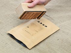 Bag Stamping Jacu Coffee Roastery - Visual identity/Branding by Tom Emil Olsen, via Behance