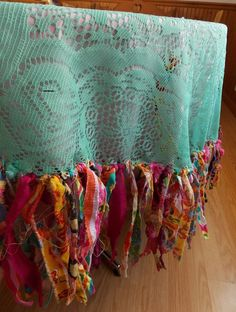 mantel para la mesa Bohemian Tablecloth Boho Chic Vintage Lace Blue Moroccan Style Gypsy Hippie Decor:
