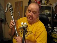 Clever rod puppet head mechanism designed & built by Christopher Dowie