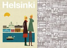 Vintage poster of Finland to represent my cultural background . Poster Photography, Best Graphics, Illustrations And Posters, Helsinki, Travel Posters, Drawing S, Cute Drawings, Vintage Posters, Illustration Art