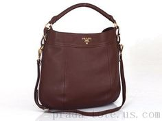 Authentic  Prada BR4506 Handbags in Coffee Outlet store Outlet Store 6b6bd2f3be7a1
