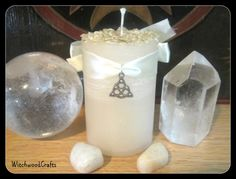 MILK OF IMBOLC  Scented Pillar Candle  Celtic by WitchwoodCrafts