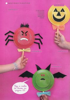 Cute for Halloween 🎃 Halloween Arts And Crafts, Halloween Activities For Kids, Fun Arts And Crafts, Halloween 1, Holiday Activities, Holidays Halloween, Halloween Themes, Halloween Decorations, Kids Crafts