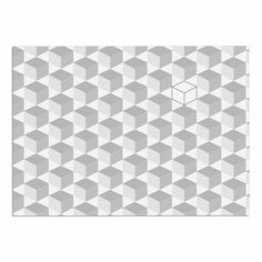 KESS InHouse KESS Original 'Greyscale Cubed ' White Geometric Dog Place Mat, 13' x 18' ** Don't get left behind, see this great dog product : Dog food container
