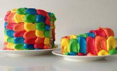 rainbow cake recipe ann reardon