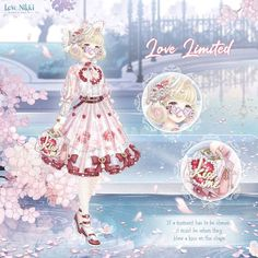 Unique Dresses, Vintage Dresses, Hyanna Natsu, Diamond Hair, Nikki Love, Mirai Nikki, Dress Up Dolls, Anime Princess, Sweetheart Dress