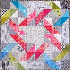 My #IGminiswap parcel arrived today!!! How thrilled am I!?? Not only a beautiful mini quilt, but...