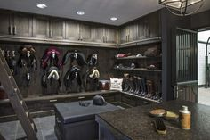 High quality tack room – SeBo - Another! Equestrian Stables, Horse Stables, Horse Arena, Dream Stables, Dream Barn, Luxury Horse Barns, Tack Room Organization, Horse Tack Rooms, Horse Barn Designs