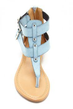 Carrini Buckle Strap Flat Sandal