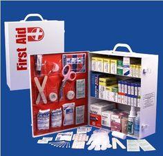 Three Shelf First Aid Cabinet