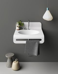 Wave is not only a wall-fitted washbasin. It becomes a furnishing element thanks to the large incorporated towel holder, the version with the work surface and, if requested, also with a mirror. All of this in just one single piece, thanks to the skilful thermoforming of Corian®. The position of the washbasin compared with the … Continue reading Wave →