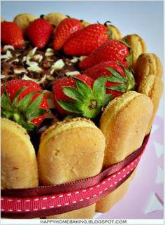 """Tiramisu Charlotte Cake from """"Happy Home Baking"""""""