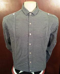 English Laundry Christopher Wicks Mens Sz XL Stripe Button Down Long Sleeve | eBay $24.99
