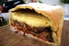 Pão Italiano de Berinjela com Linguiça | Receitas | Dia Dia
