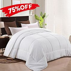 Amazon.com: MEROUS Comforter Goose Down Alternative Duvet Insert -Hypoallergenic and Lightweight Luxury Hotel Collection(King/California King,White): Home & Kitchen