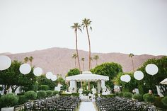 Brides: A Glamorous Palm Springs Wedding with Gold and Feather Details