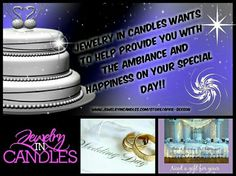 Visit my store today...and I'll create a party just for your wedding! You'll have your own party link to pass out to friends and family to help put a little Jewelry In Candles in your wedding!! Great for bridal/groomsmen gift too! www.jewelryincandles.com/store/april-sexson