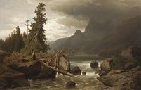 Před bouří by Adolf Chwala  (1836–1900)