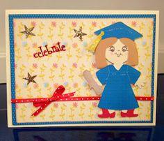 Celebrate!  Graduation card using Cricut Everyday Paper Dolls.