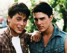 Picture of Rob Lowe  as Sodapop Curtis, Tom Cruise  as Steve Randle  from The Outsiders   High Quality Photo  C84602
