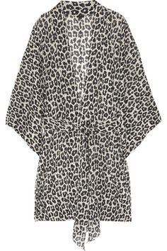 3.1 Phillip Lim Leopard-print stretch silk-chiffon robe