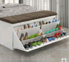 100 DIY shoe storage rack design ideas 2019 – Home Decor DIY Closet Organization Shoe Storage Rack, Diy Shoe Rack, Shoe Racks, Diy Storage, Storage Hacks, Hidden Storage, Small Storage, Cheap Storage, Shoe Organizer