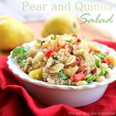 Pear Quinoa Salad - fresh and light for summer. {The Girl Who Ate Everything} #summer #recipes