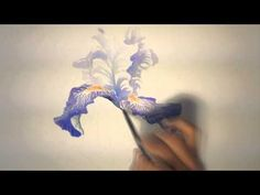▶ Un iris à l'aquarelle (watercolor tutorial) - YouTube
