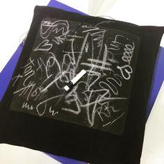 Very cool: #chalkboard #pillow  #creativeworld #cpc16 #paperworld