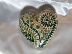 Mosaik Deko Herz grün