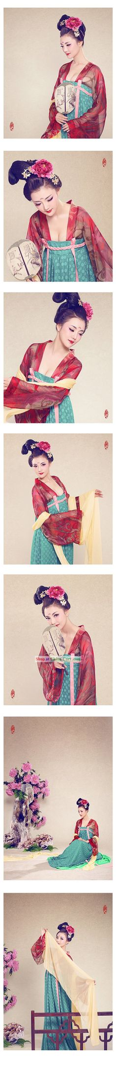 Ancient Chinese Tang Dynasty Clothing for Women -pin it from carden