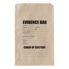 Shop Crime Evidence Bag created by fractal_gr. Detective Aesthetic, Detective Theme, Detective Comics, Birthday Gift Bags, 13 Birthday, Mission Impossible Theme, Zombie Halloween Party, Mission Possible, Prank Gifts